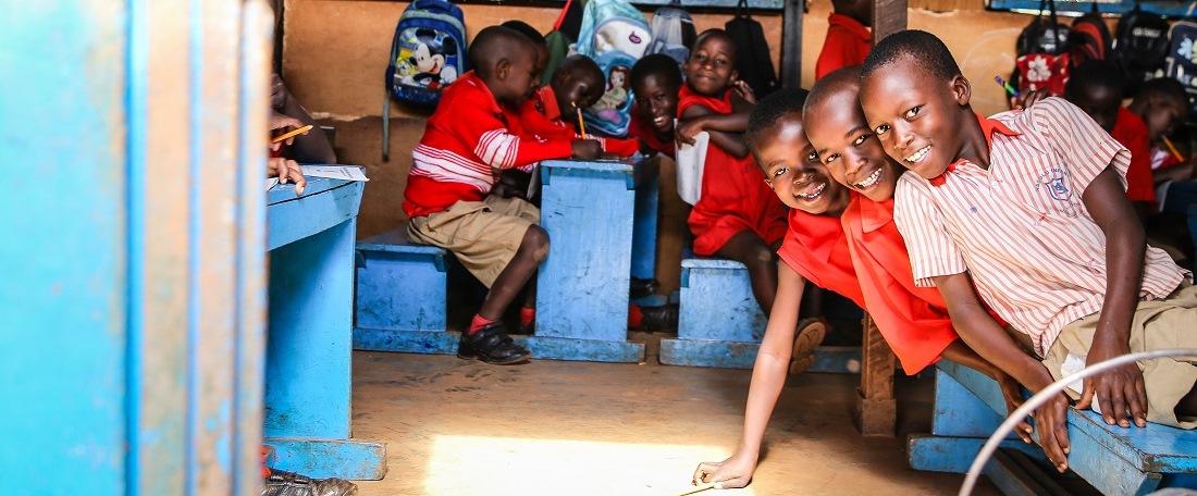 Kenyan children in classroom
