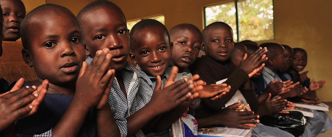 Children in Tanzania clapping