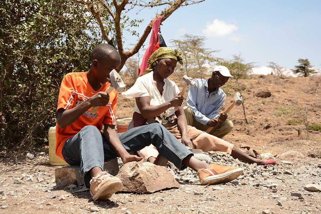 Stone quarry in Kenya