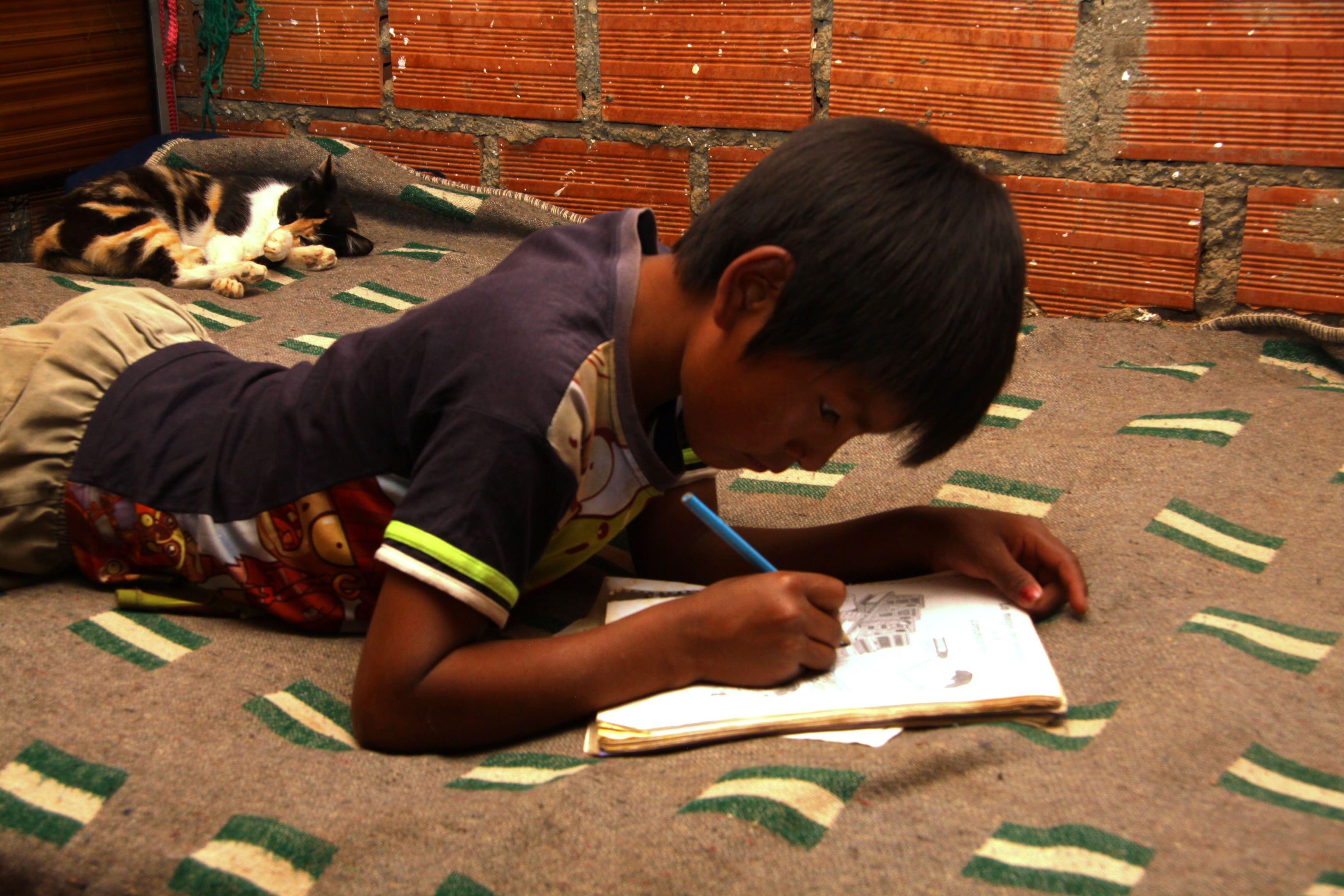 Jose doing his homework