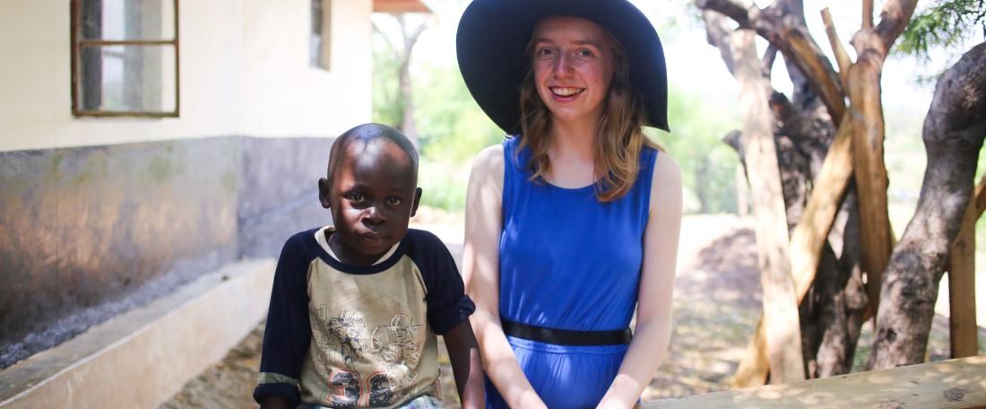 UCB sponsor Lauren visits sponsored child
