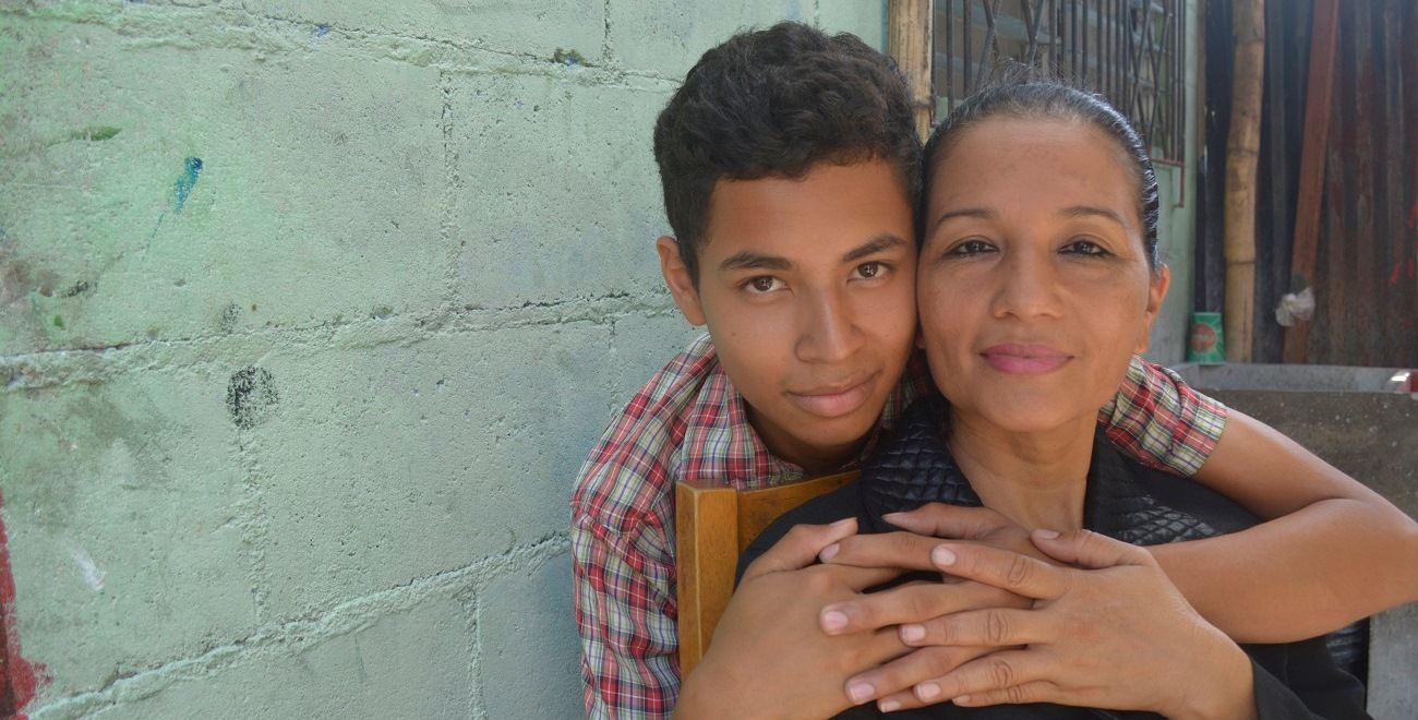 Gabriel and his mother Maria