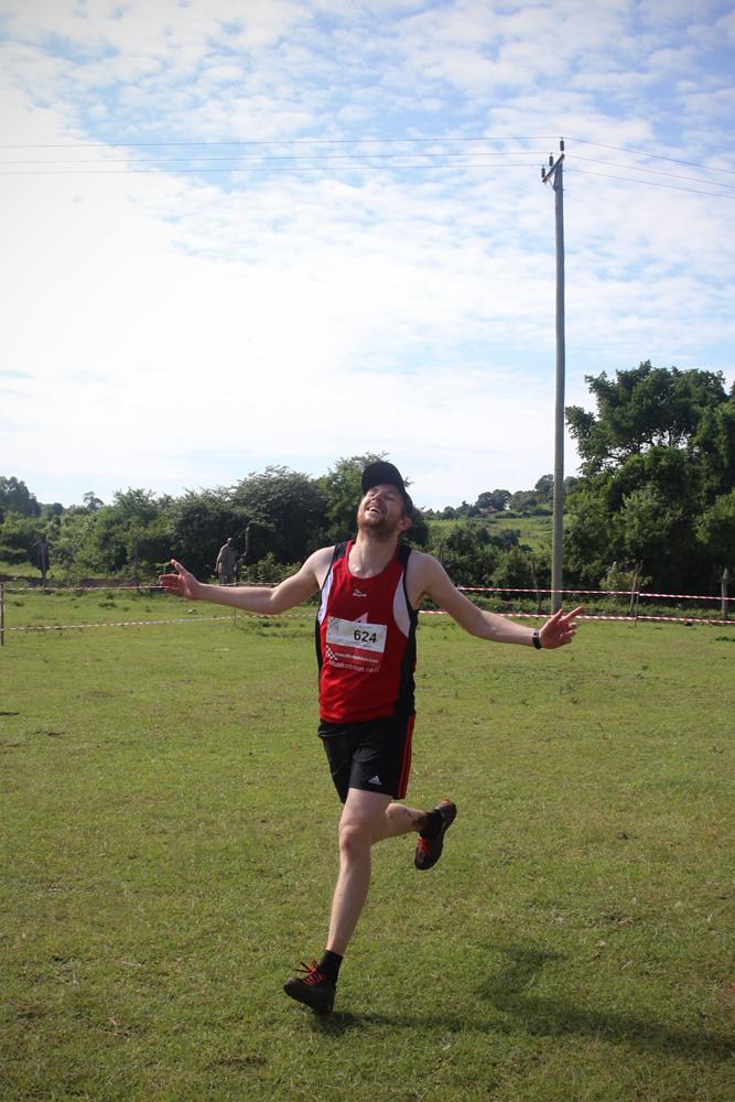 Darren running the Muskathlon