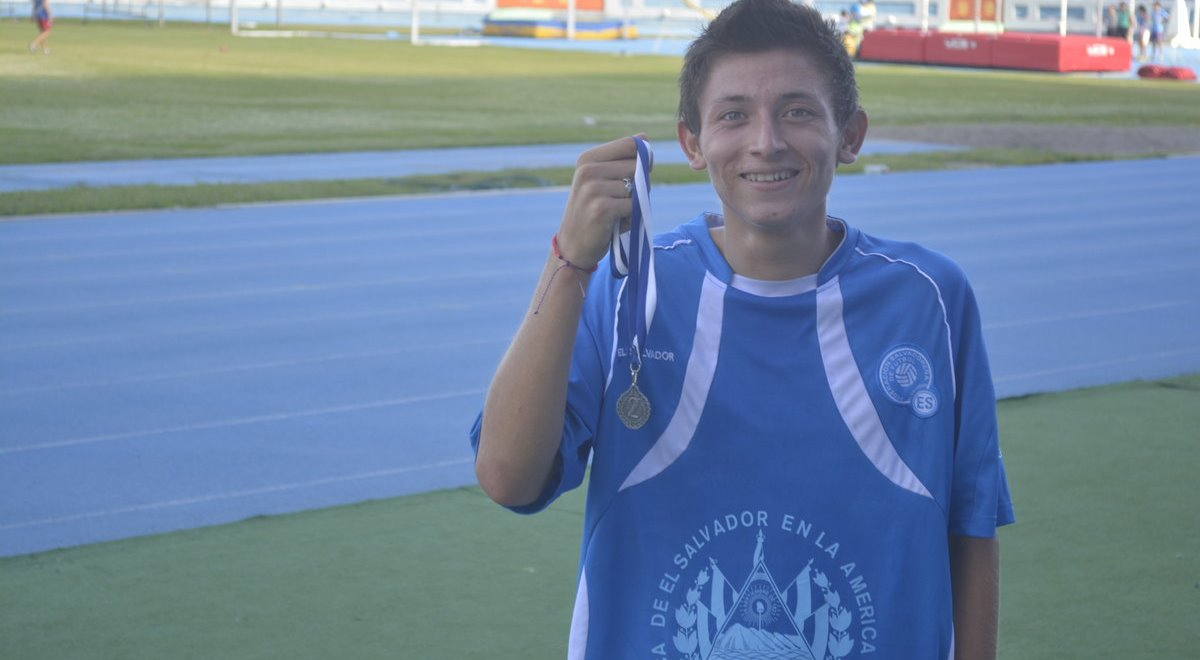 Jimmy with a running medal