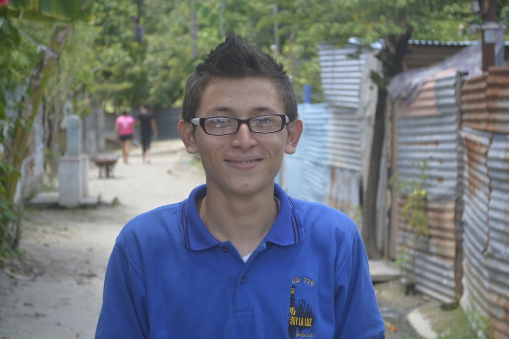 Sponsored child Jimmy in his community