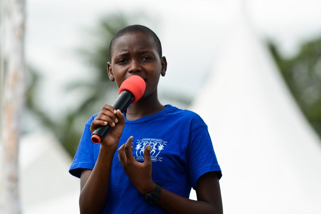 Kenyan girl raising FGM awareness