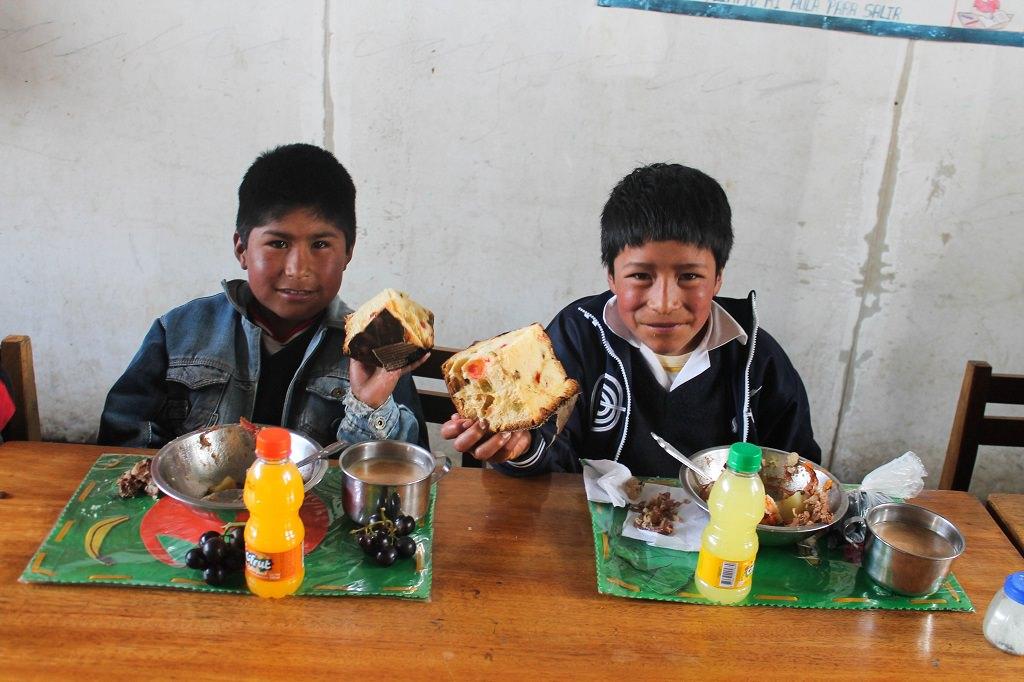 Christmas cake in Peru