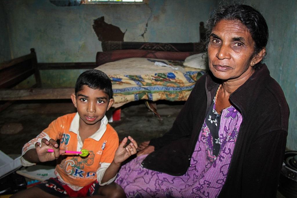 Dharshan with his grandma