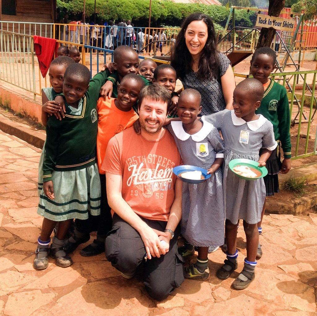 Richard Murphy with sponsored children