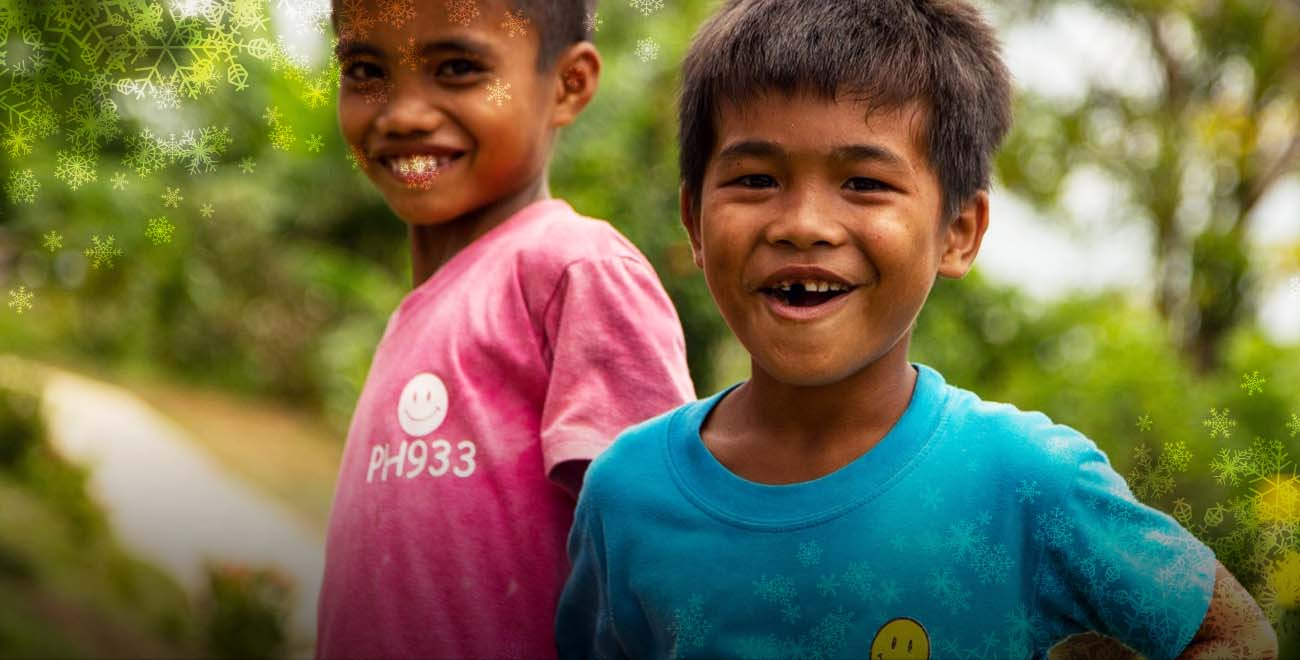 Smiling boys from Philippines