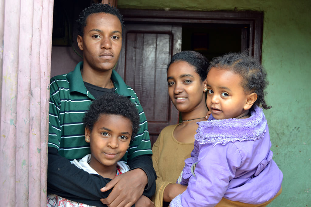 Ethiopian family helped by Compassion