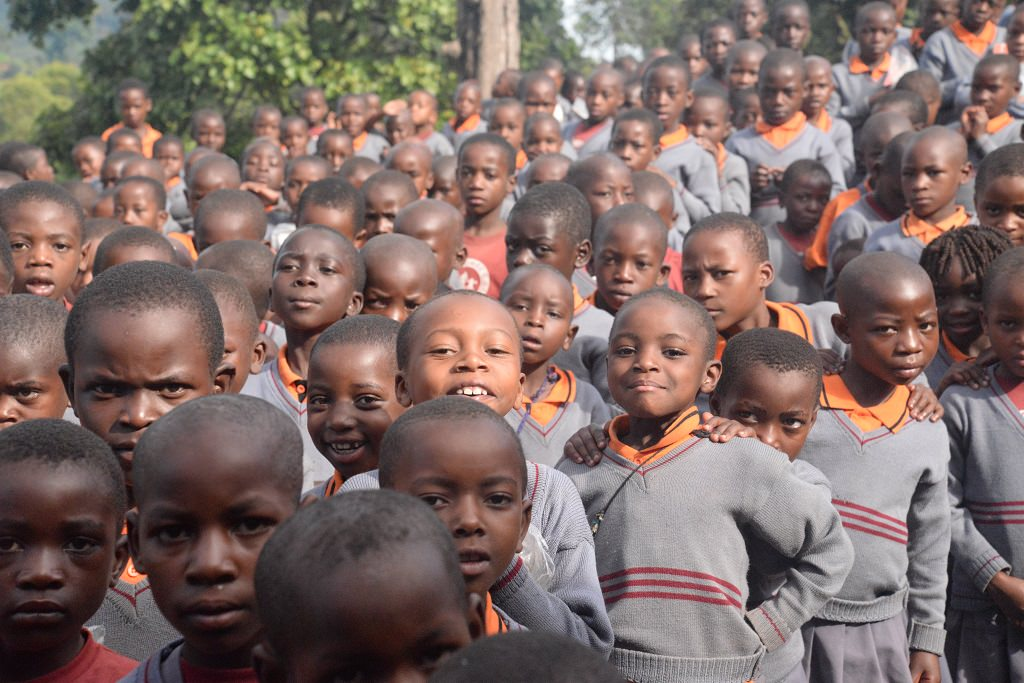 Sponsored children at Compassion project in Uganda
