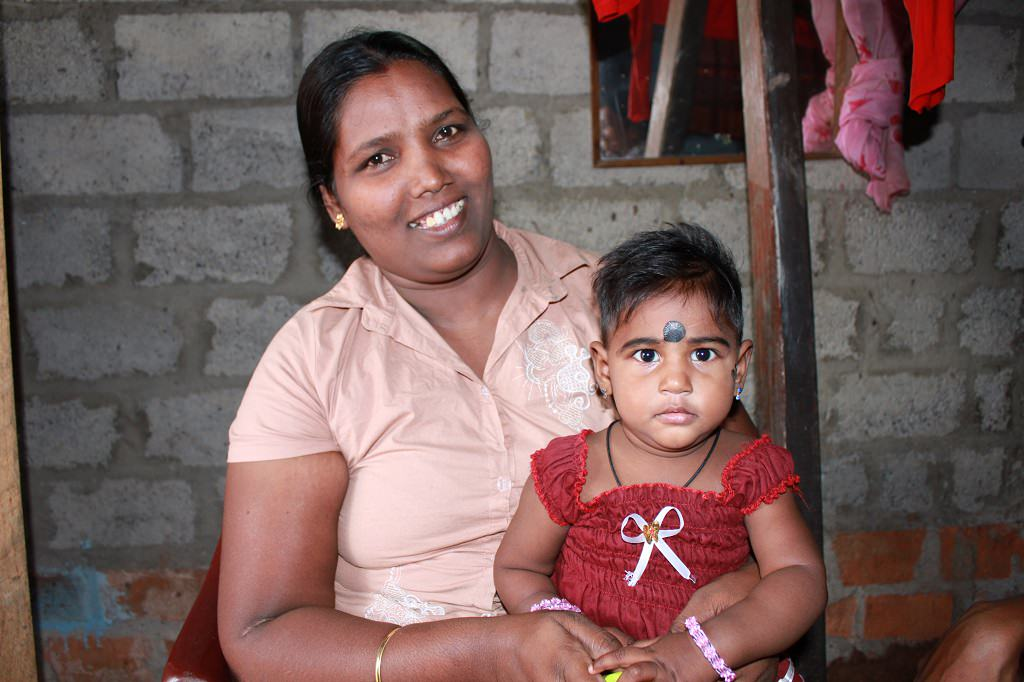 Dharaniya and her mother