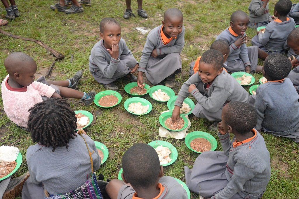 Lunchtime at Compassion project in Uganda
