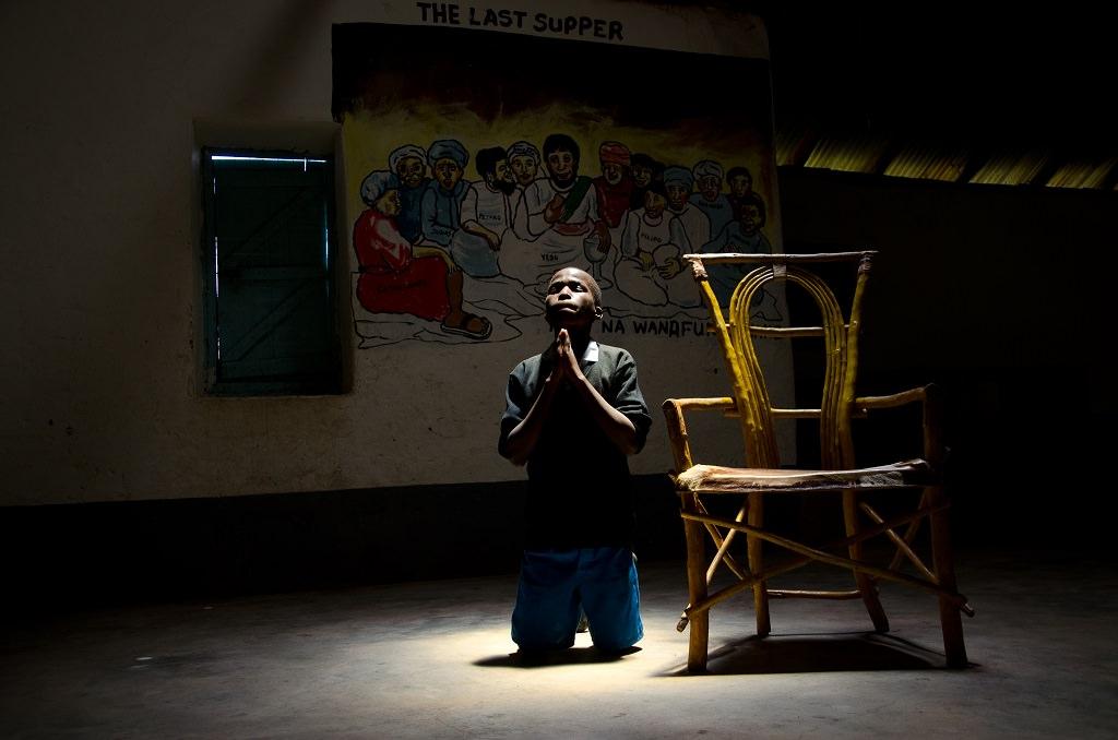 Julius praying