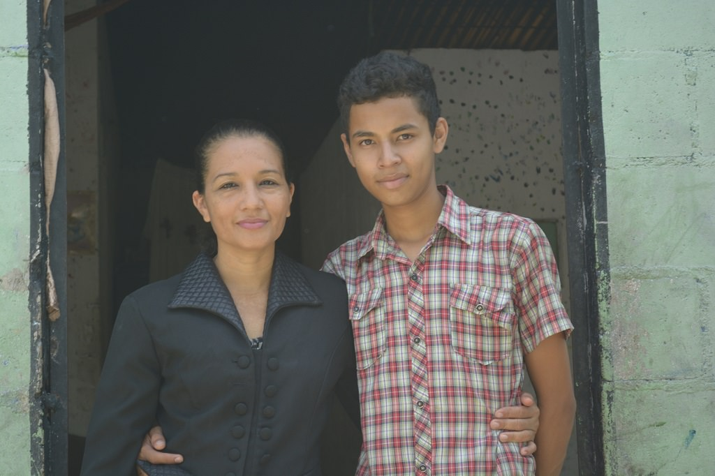 Mother and son from El Salvador
