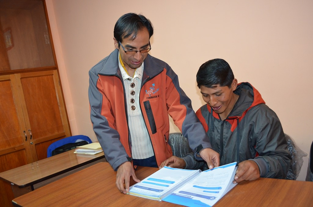 Miguel with his tutor
