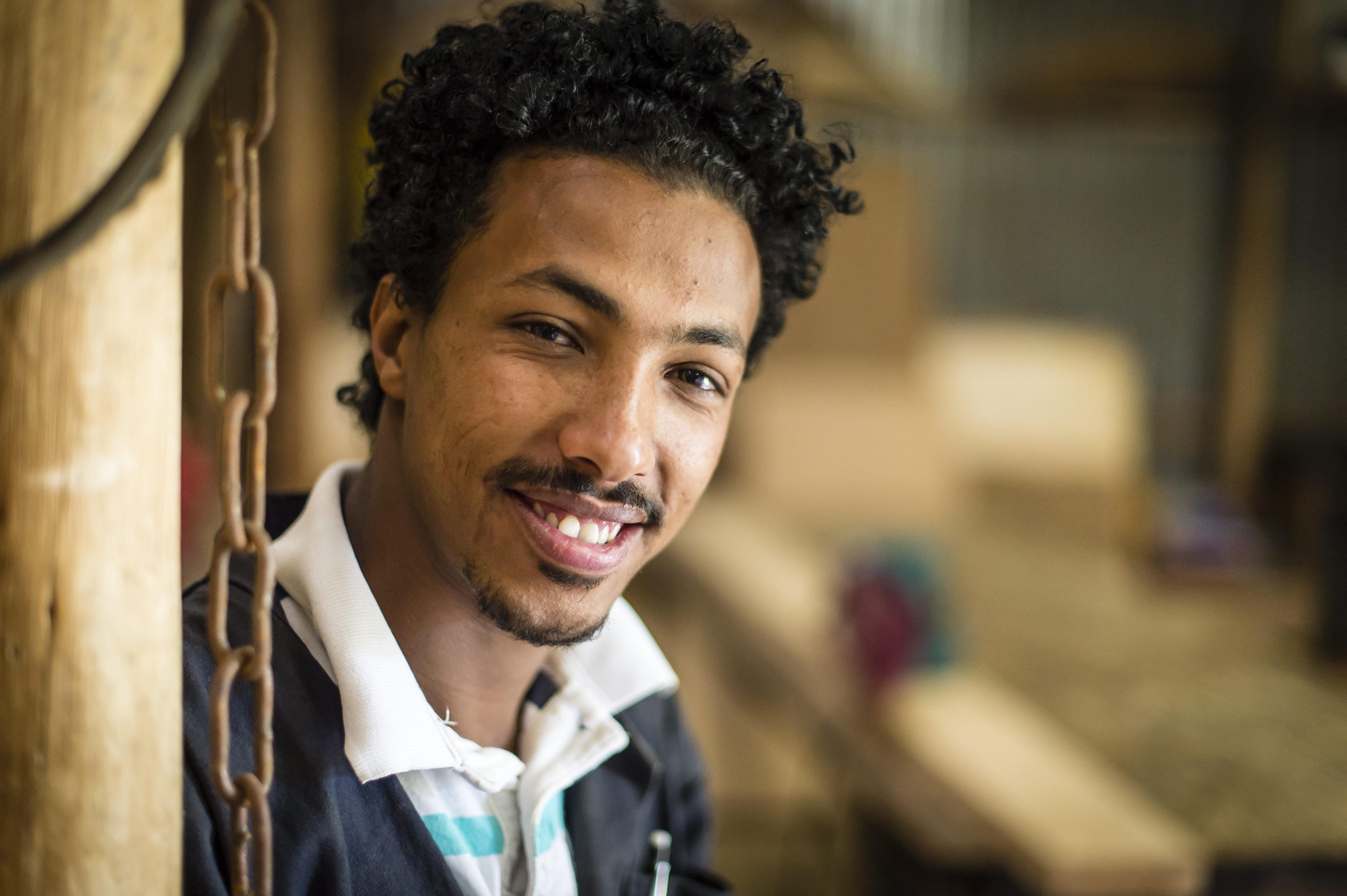Sameson Tilahun smiling