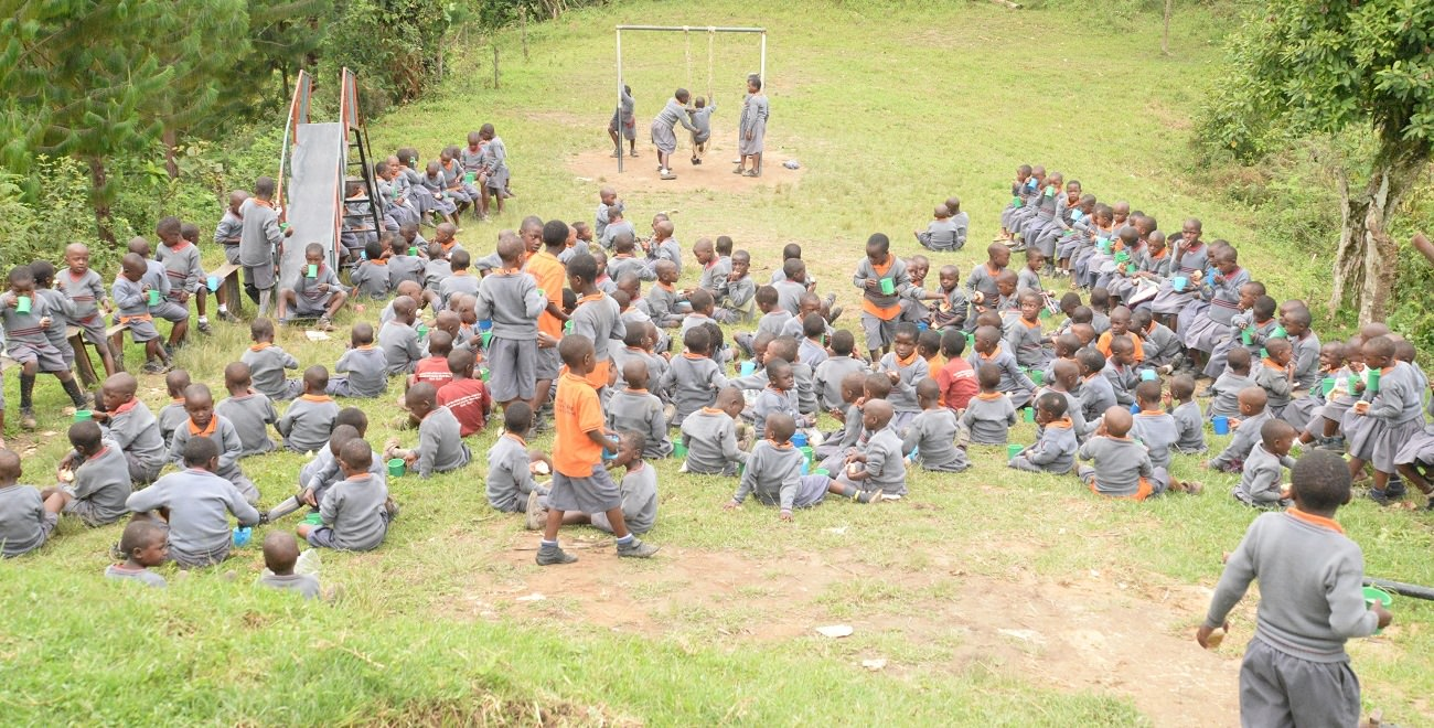 Playtime at Ugandan Compassion project