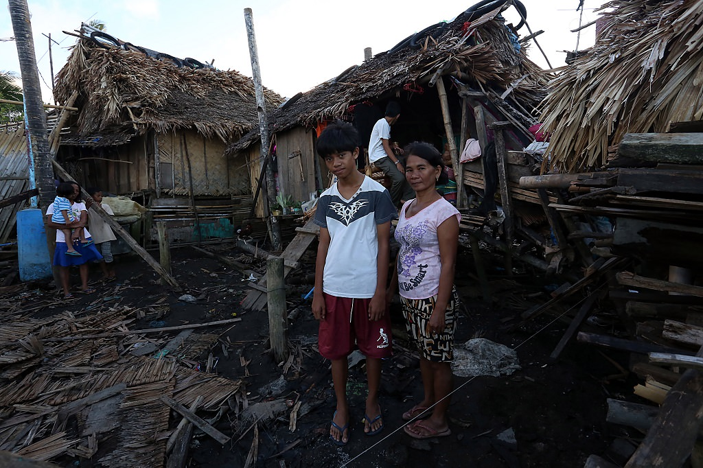 Typhoon Melor homes destroyed