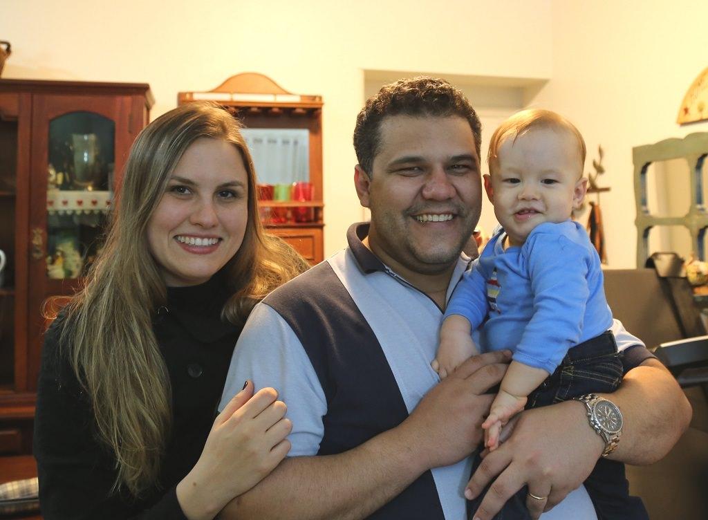 Ana Rafaela with her family