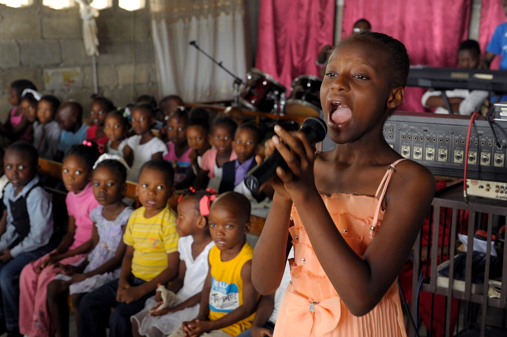 Haitian girl singing
