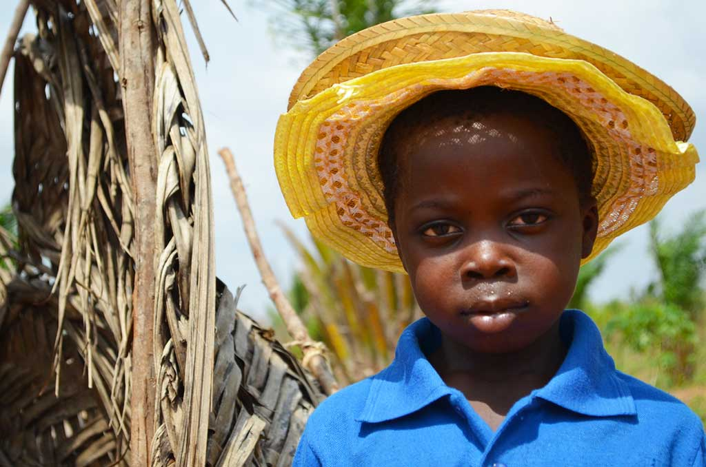 Boy wearing hat in Togo