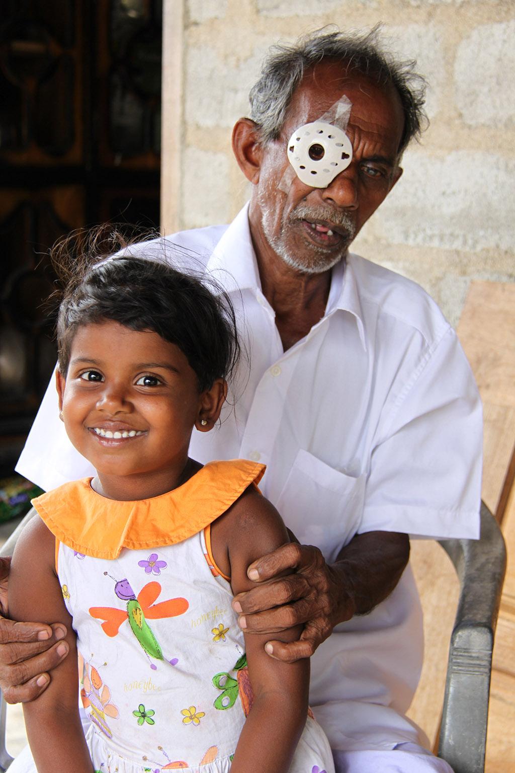 Esikimuthu after his sight-saving operation.