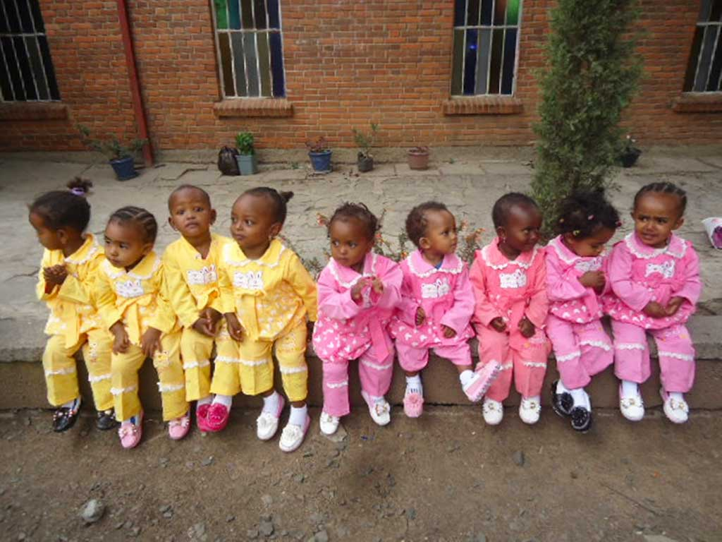 Cute babies in Ethiopia