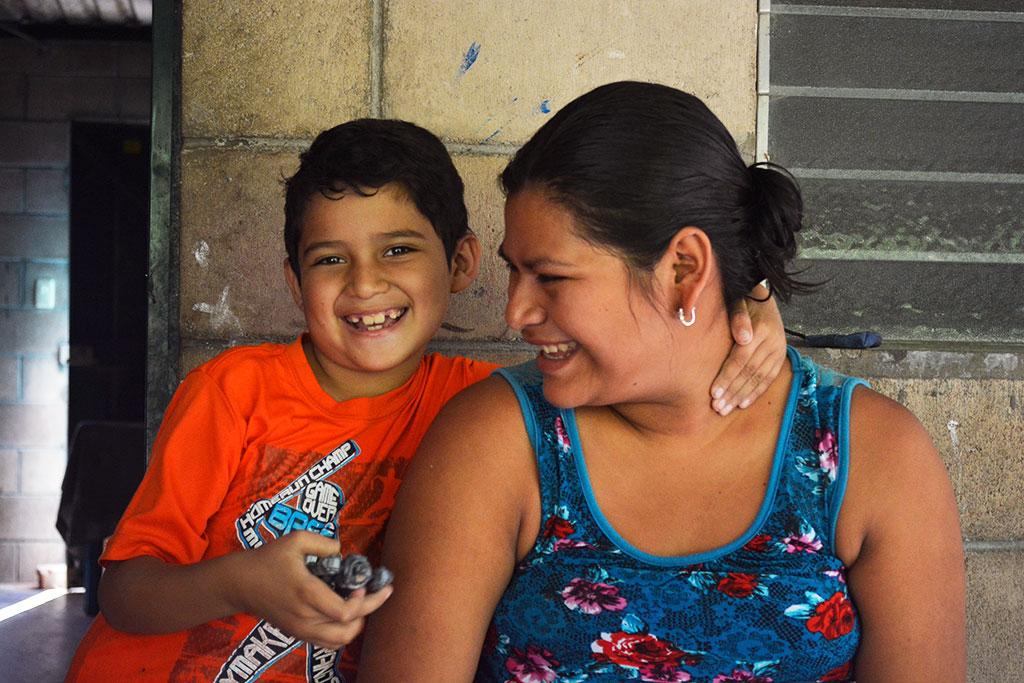 Cruz with his mum