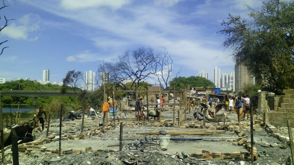 Fire damage in Recife