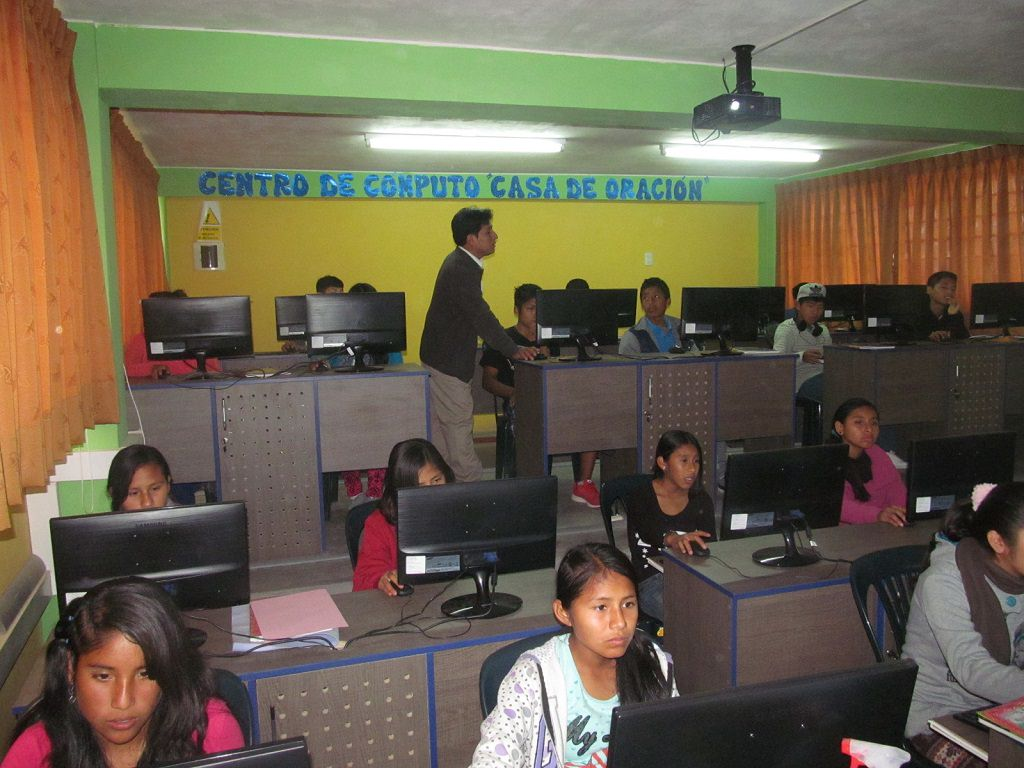 Compassion computer lab in Peru