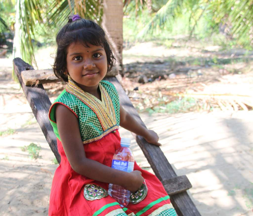 Smiling little girl in Sri Lanka