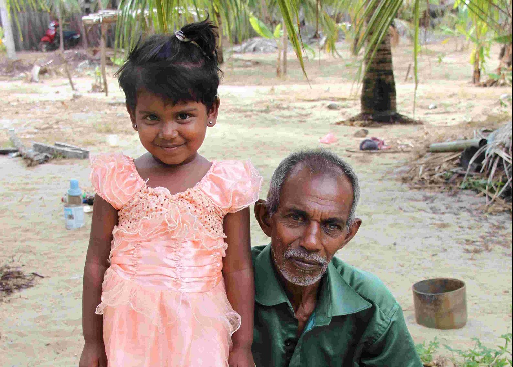 Sri Lankan granddaughter and grandfather