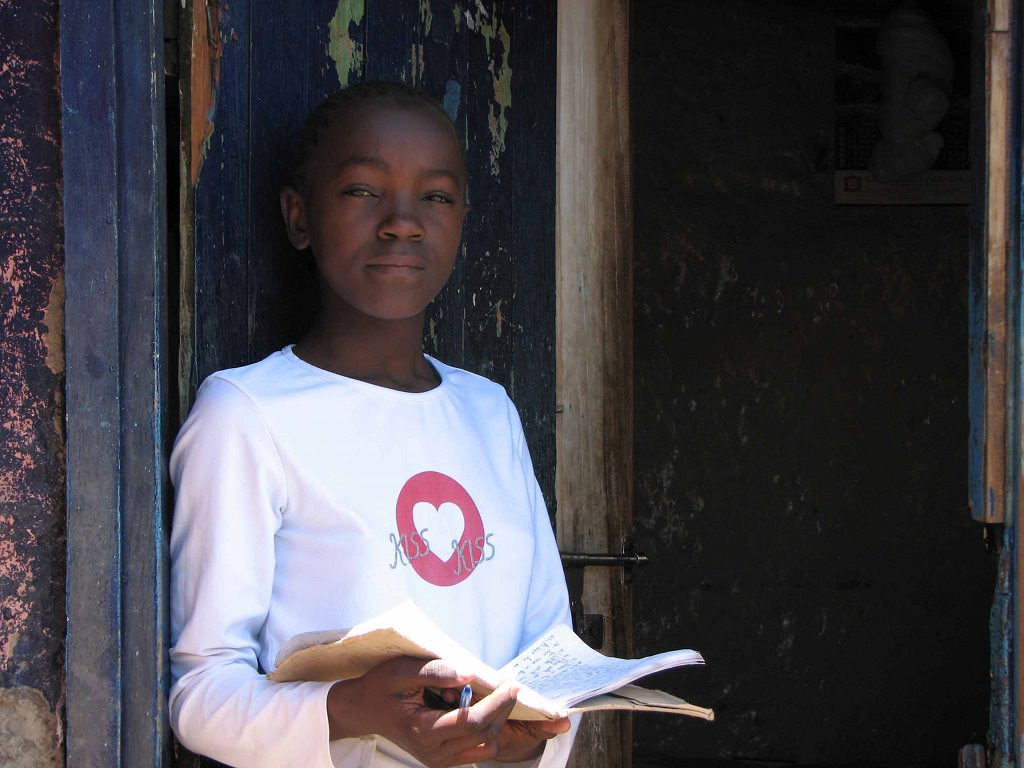 Young author in Kenya