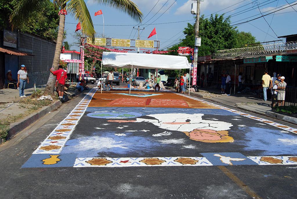 Easter painting in El Salvador