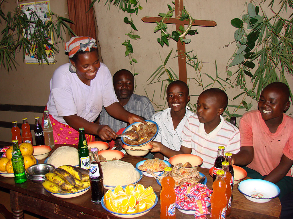 Easter meal in Kenya