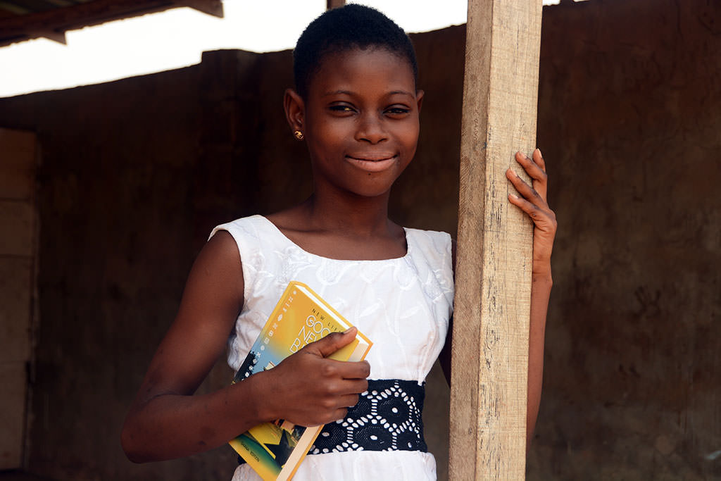 Girl with Bible in Ghana