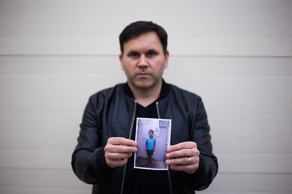 Matt Redman with his Compassion sponsored child