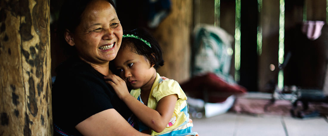 Mother and daughter in Thailand
