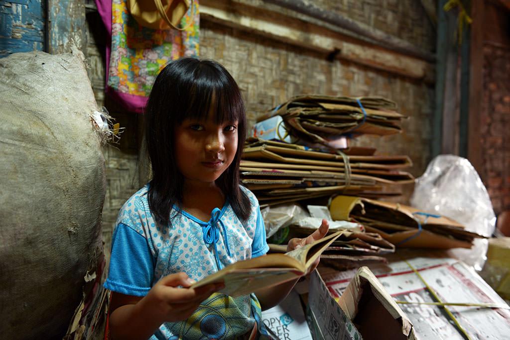 Rachel and her second hand book corner