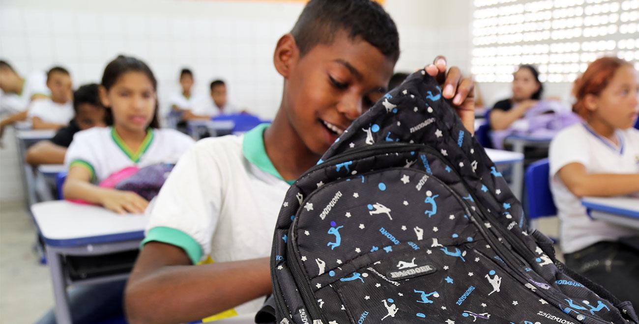 School bag in Brazil