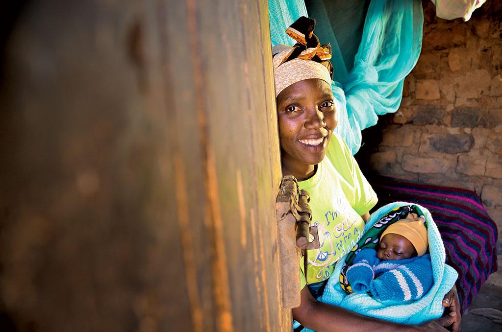Sleeping baby in Kenya