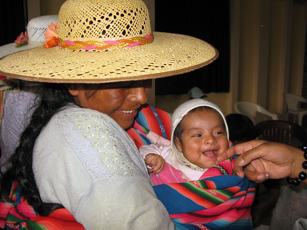 Smiling baby in Bolivia
