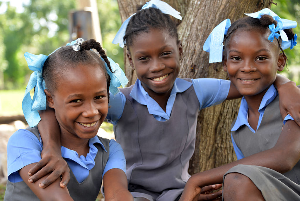 Sponsored girls in Haiti