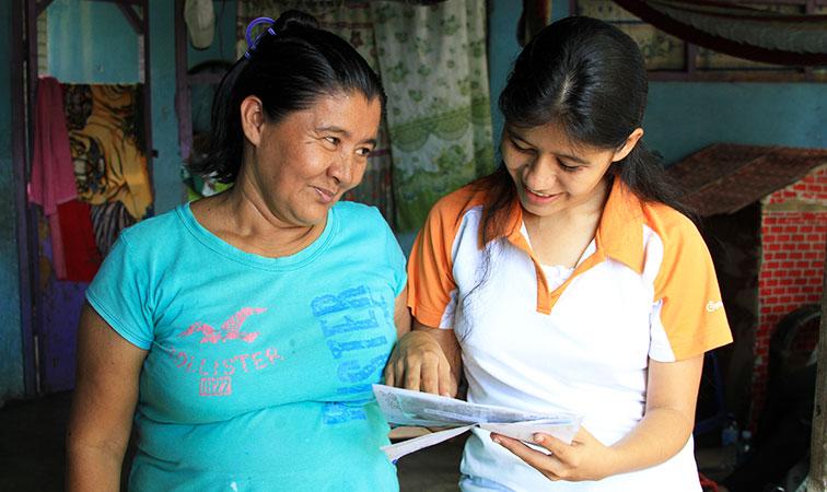 Sponsor letter in Guatemala