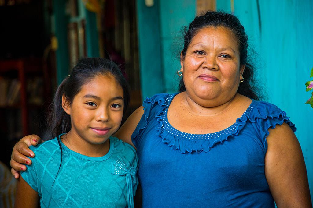 Sponsored child Davni and her adopted mum