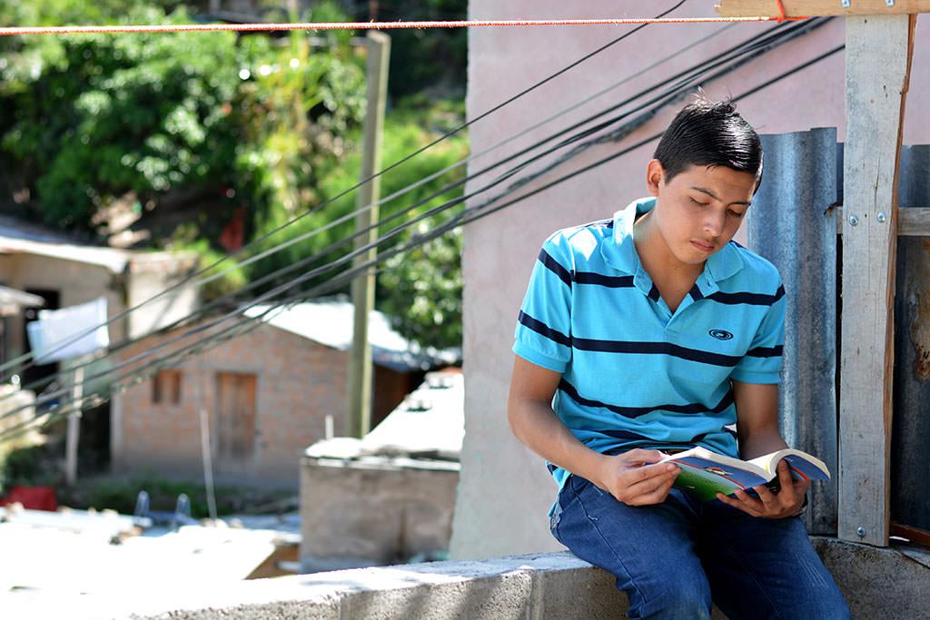 Enoc studying in Honduras