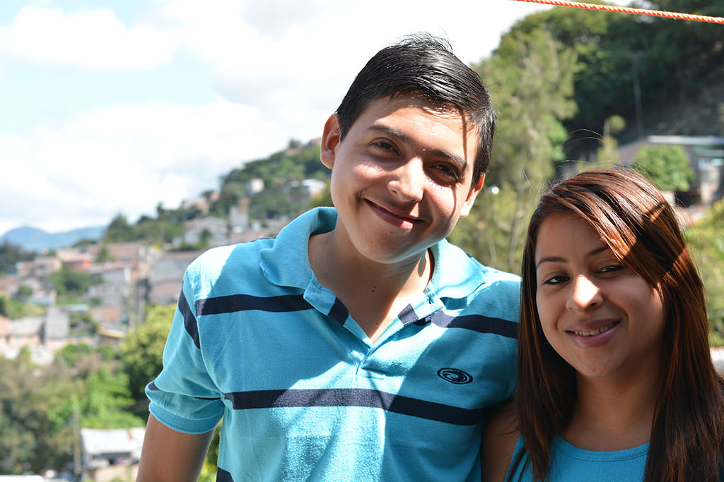 Brother and sister in Honduras