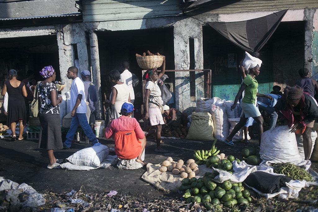 Haiti market scene